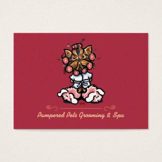 Pet Spa Dog Groomer Business Creamsicile Modern Business Card