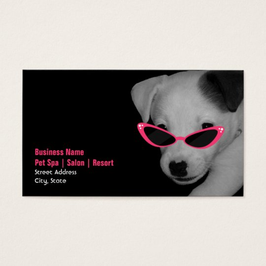 Pet Spa Salon - Dog With Pink Sunglasses