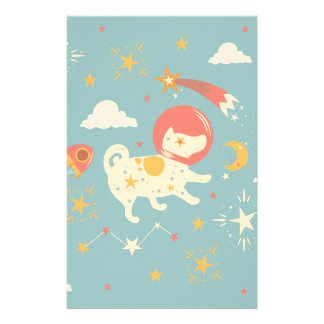 Pet star personalised stationery