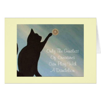 Pet Sympathy Card - Cat (Kinky Friedman quote)