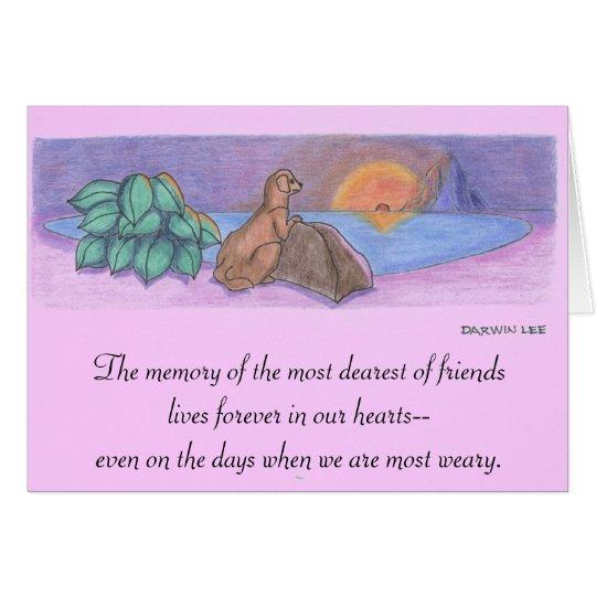 Pet Sympathy Card / Condolence Card / Memorial