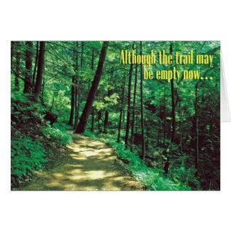 Pet Sympathy Card – Empty Trail