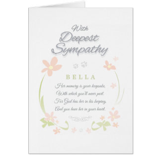 Pet Sympathy Card - Female- Deepest Sympathy