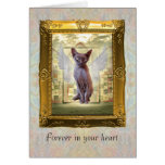 Pet Sympathy card. Forever in your heart.