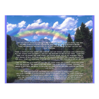 Pet Sympathy Card Rainbow Bridge Postcard