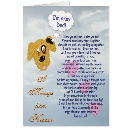 Pet Sympathy/Dog-Male owner Cards