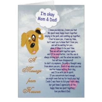 Pet Sympathy/Dog-Mom & Dad Greeting Card