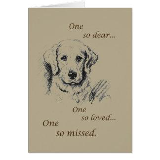 Pet Sympathy Dog Sketch Greeting Card
