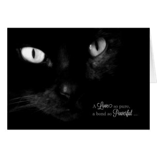 Pet Sympathy for Loss of a Cat - Black Cat Greeting Card