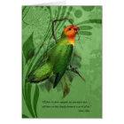 Pet Sympathy Loss of a Bird Lovebird Card