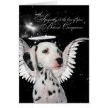 Pet Sympathy Loss of a Dog Dalmatian Angel Greeting Card
