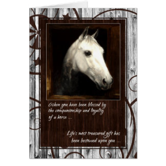Pet Sympathy Loss of a Horse Greeting Card