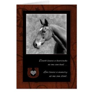 Pet Sympathy Loss of a Horse Greeting Card