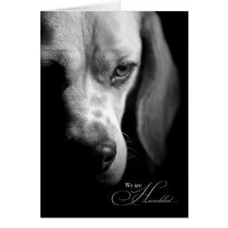 Pet Sympathy | Loss of Dog | Beagle Black Greeting Card