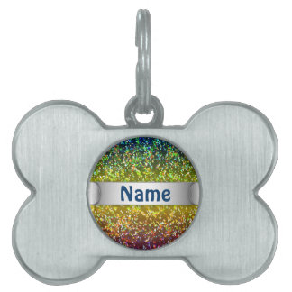 Pet Tag Glitter Graphic Background