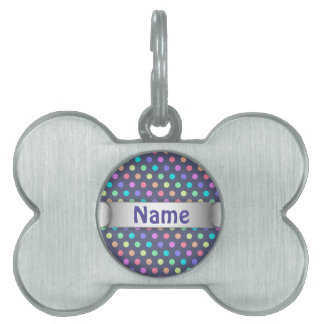 Pet Tag Polka Dots