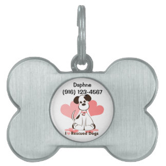 Pet Tag Rescued Dog