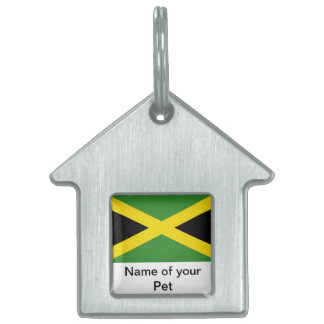 Pet Tag with Flag of Jamaica