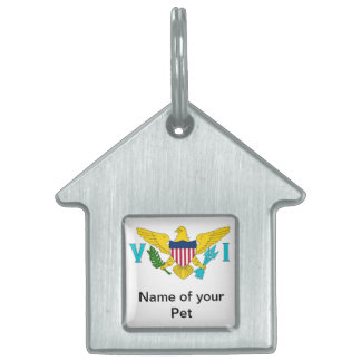 Pet Tag with Flag of Virgin Islands