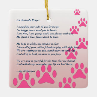 Pet Tribute / Memorial - Ceramic Ornament
