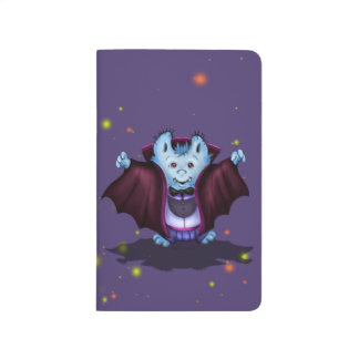 PET VAMPIRE HALLOWEEN CARTOON Pocket Journal