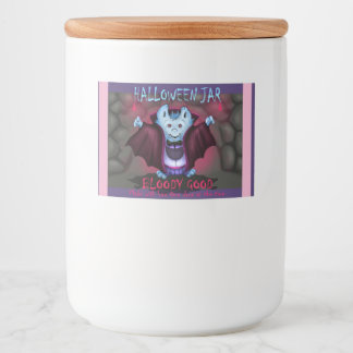 PET VAMPY JAR LABLE BOTTLE FOOD LABEL