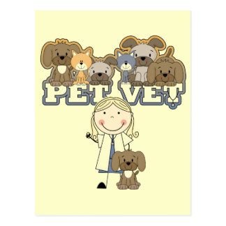 Pet Vet Blond Female Tshirts and Gifts Postcards