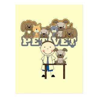 Pet Vet White Male T-shirts and Gifts Postcard
