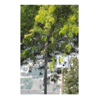 Pet Walk with Trees Stationery Paper