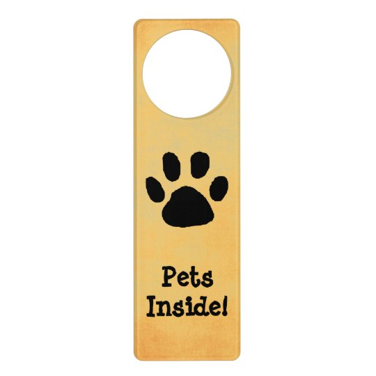 Pet Warning Door Sign