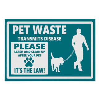 PET WASTE - Courtesy Notice Poster