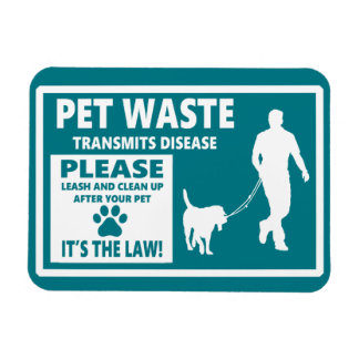 PET WASTE - Courtesy Notice Rectangular Photo Magnet