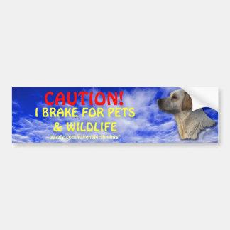 Pet & Wildlife Safety Bumper Sticker