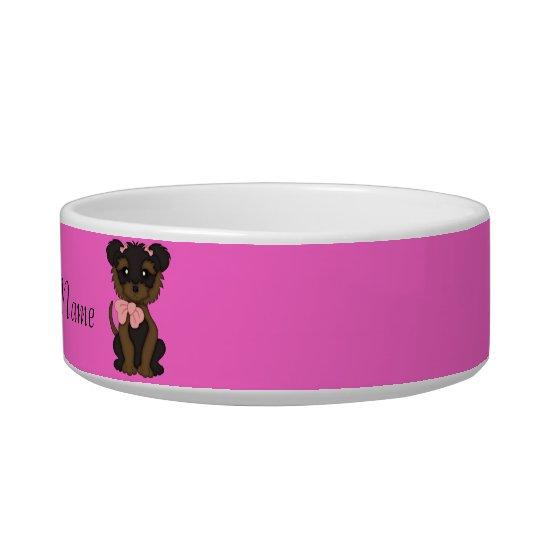Pet YORKIE Terrier Dog water bowl or Food