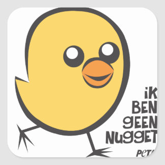 PETA I am no nugget sticker