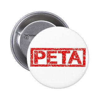Peta Stamp 6 Cm Round Badge