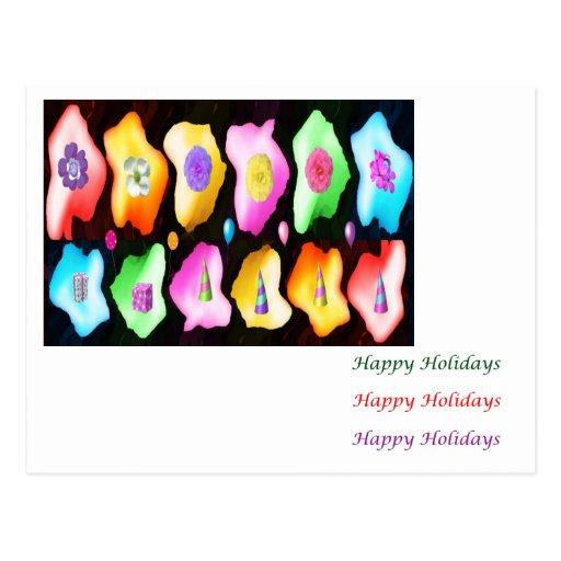 Petal Eye Popping Art - HappyBirthday HappyHoliday Post Cards