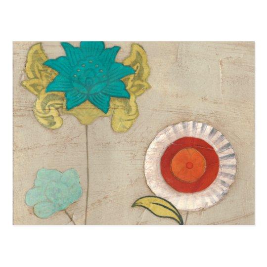 Petal Patterns I Postcard