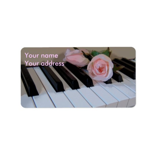 Petal Pink Keys Address Label