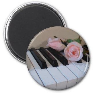 Petal Pink Keys Fridge Magnet