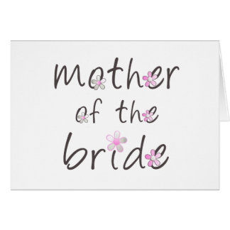 Petal Pink Mother of the Bride Gift Greeting Card