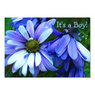 Petal Pleasure Photo Boy Birth Announcement Card