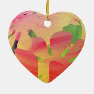 Petal Shapes of Sunset Christmas Tree Ornaments
