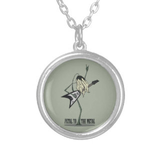 Petal to the Metal Round Pendant Necklace