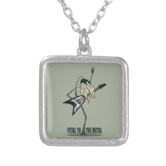 Petal to the Metal Square Pendant Necklace