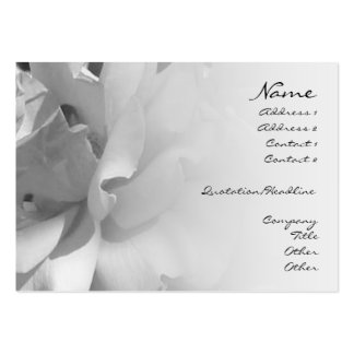 Petals B&W Profile Card Pack Of Chubby Business Cards