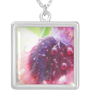 Petals - Cat's Eye Iris Silver Plated Necklace
