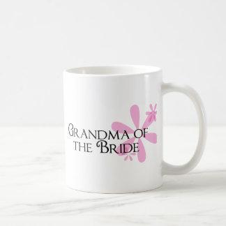 Petals in Pink Grandma of the Bride Basic White Mug