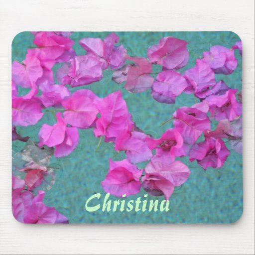 Petals in the Pool Mouse Pads