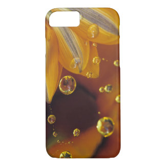 Petals on Mylar reflective surface with drops. iPhone 8/7 Case
